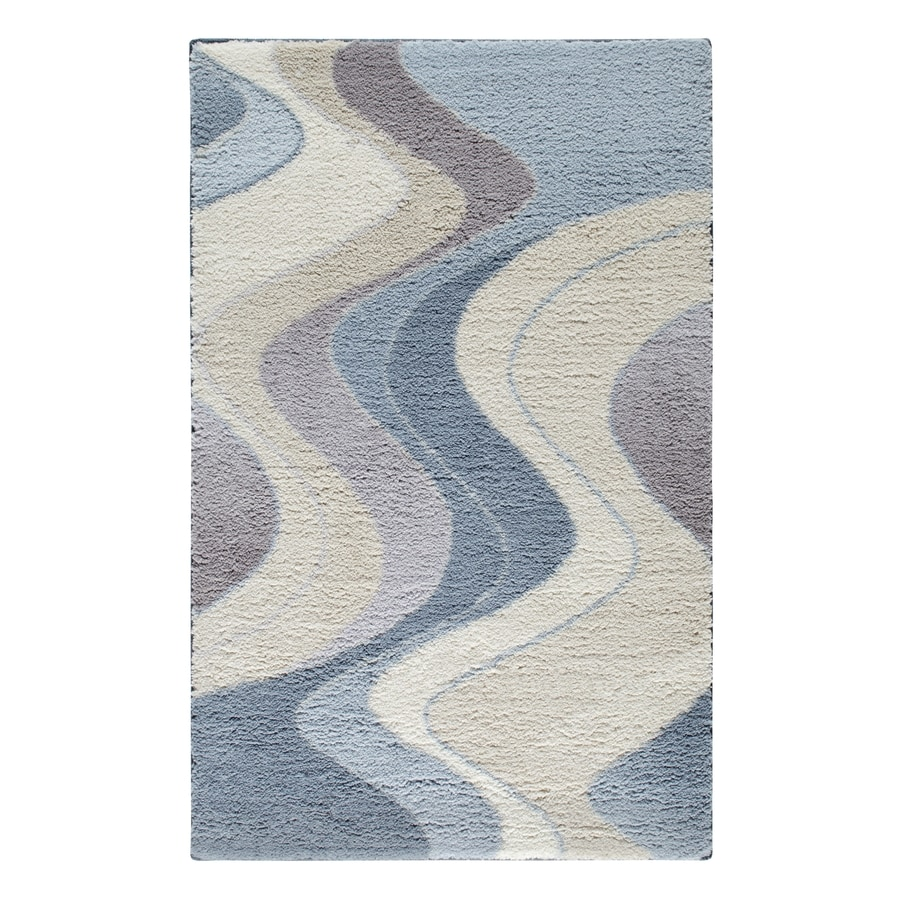 STAINMASTER Blue and Tan Rectangular Indoor Tufted Throw Rug (Common: 3 x 4; Actual: 30-in W x 48-in L)
