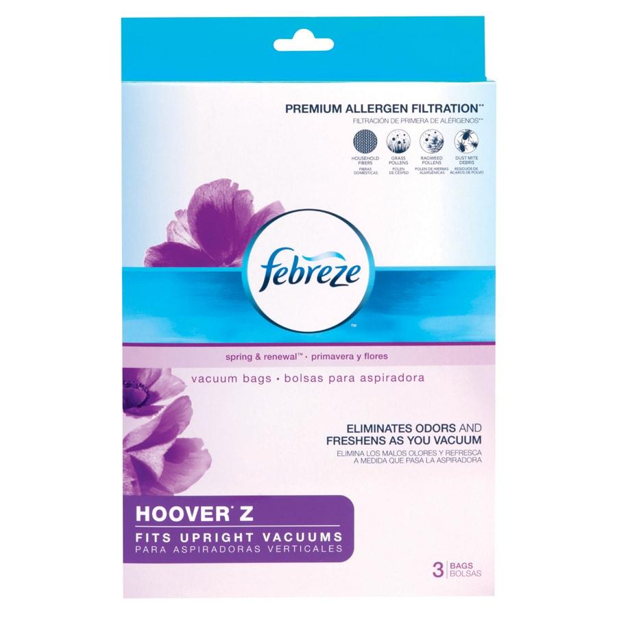 Febreze Hoover Z Upright 3-Pack 6.8-Liter Disposable Paper Vacuum Bags