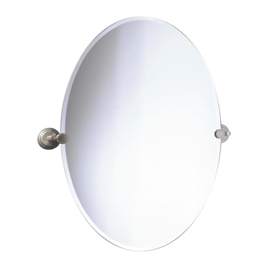 Gatco 32-in H x 19-1/2-in W Marina Oval Frameless Bath Mirror with Beveled Edges