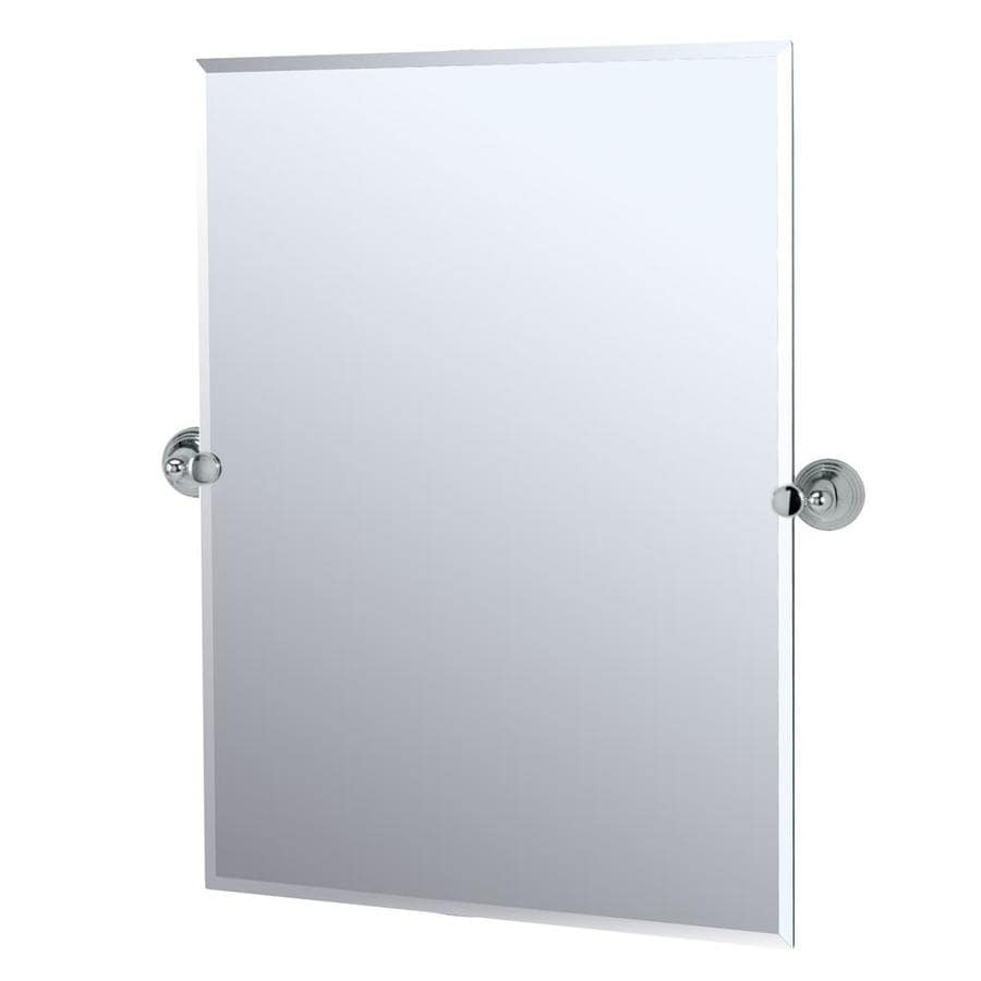 Gatco Charlotte 23.5-in W x 31.5-in H Rectangular Tilting Frameless Bathroom Mirror with Chrome Hardware and Beveled Edges