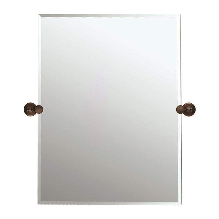 Gatco 31-1/2-in H x 23-1/2-in W Tiara Rectangular Frameless Bath Mirror with Beveled Edges