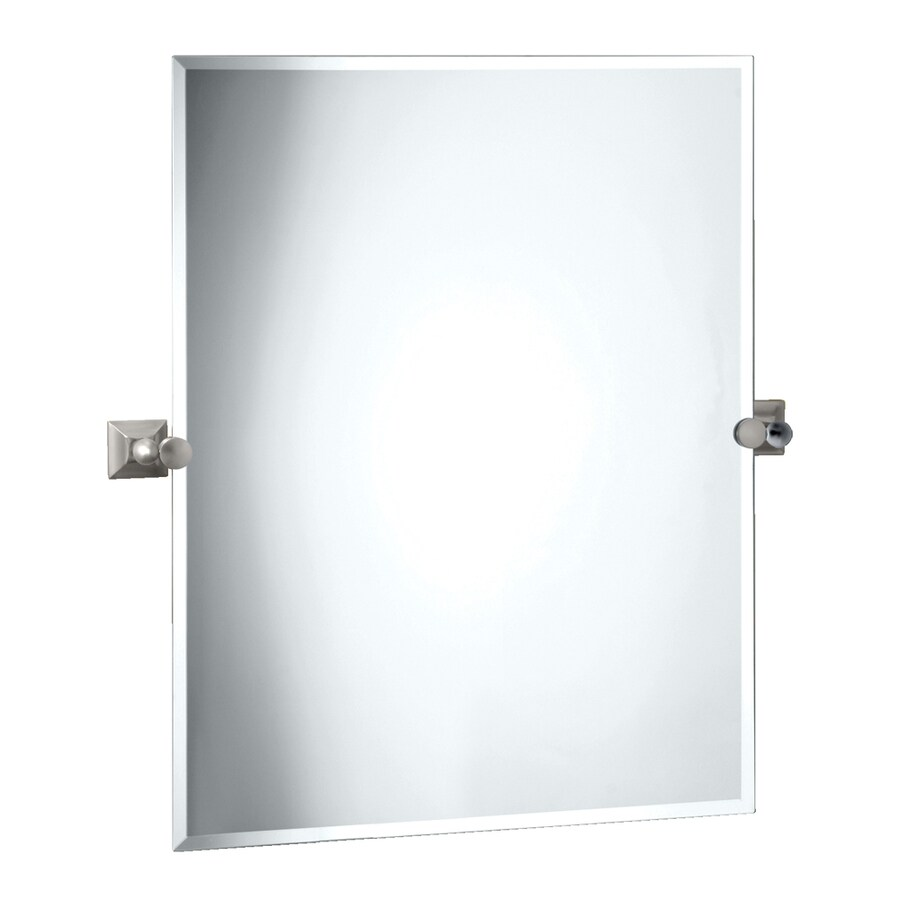 Bathroom Tilt Mirrors X21 Quot Oval Tilt Mirror Satin Nickel Transitional Bathroom