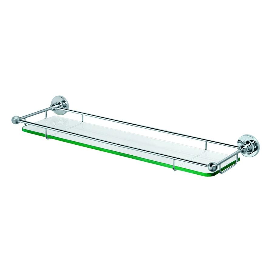 Gatco Premier Chrome Glass Bathroom Shelf