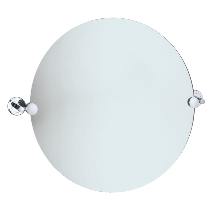 Gatco 19-1/2-in H x 19-1/2-in W Latitude 2 Round Frameless Bath Mirror with Beveled Edges