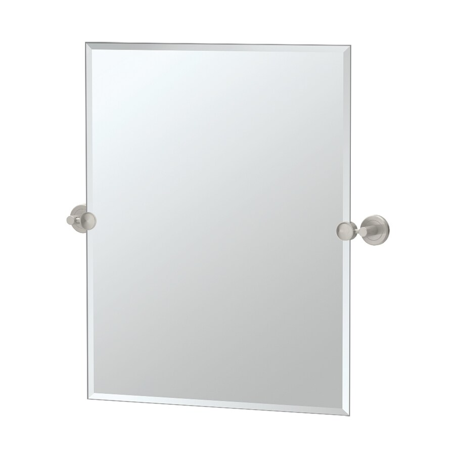 Shop Gatco Latitude 2 19 5 In W X 24 In H Rectangular Tilting Frameless Bathroom Mirror With
