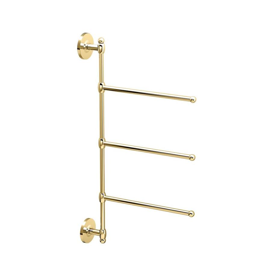 Gatco Polished Brass Triple Towel Bar (Common: 26-in; Actual: 26.5-in)
