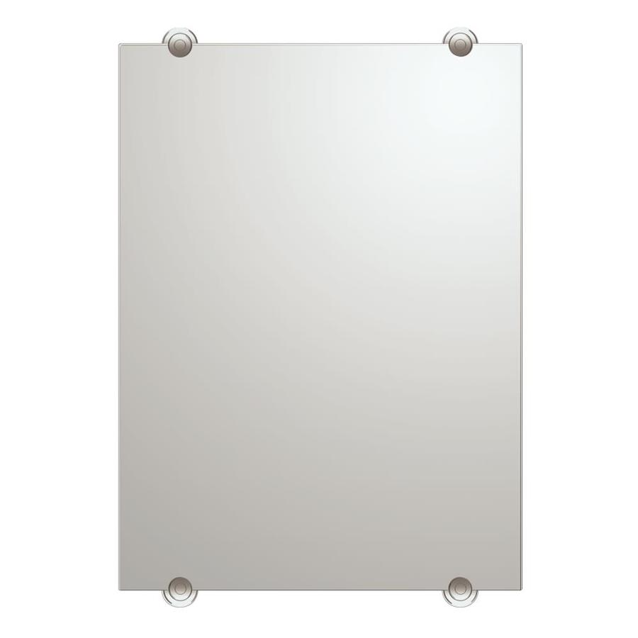 Gatco Latitude 2 22-in W x 30-in H Rectangular Frameless Bathroom Mirror with Chrome Hardware and Beveled Edges