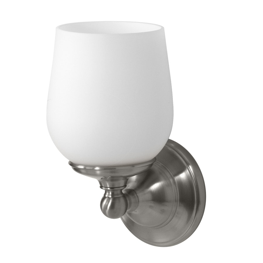 Gatco Oldenburg 4.5-in W 1-Light Satin Nickel Arm Hardwired Wall Sconce