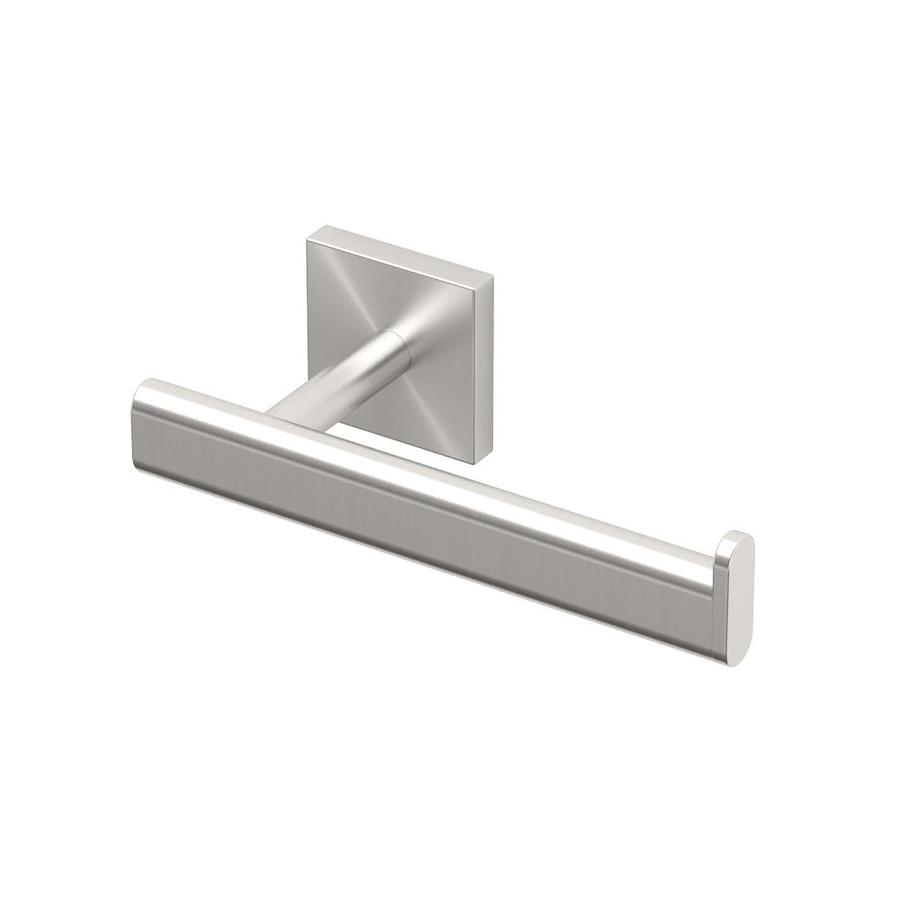 Gatco Elevate Satin Nickel Surface Mount Single Post with Arm Toilet Paper Holder