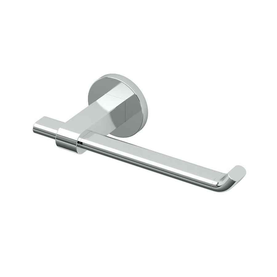 Gatco Zone Chrome Surface Mount Single Post with Arm Toilet Paper Holder