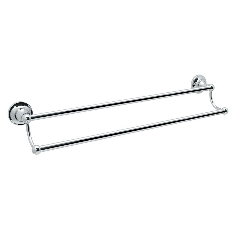 Gatco Tiara Chrome Double Towel Bar (Common: 24-in; Actual: 26.4-in)