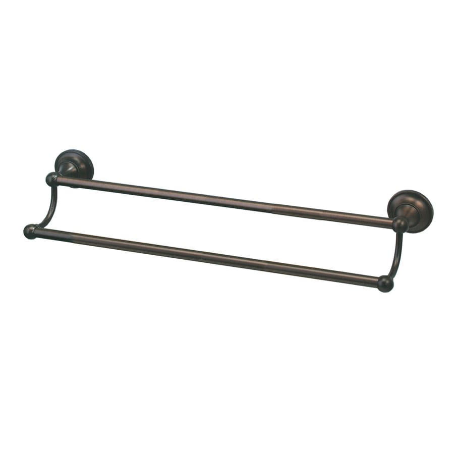 Gatco Tiara Bronze Double Towel Bar (Common: 24-in; Actual: 26.4-in)