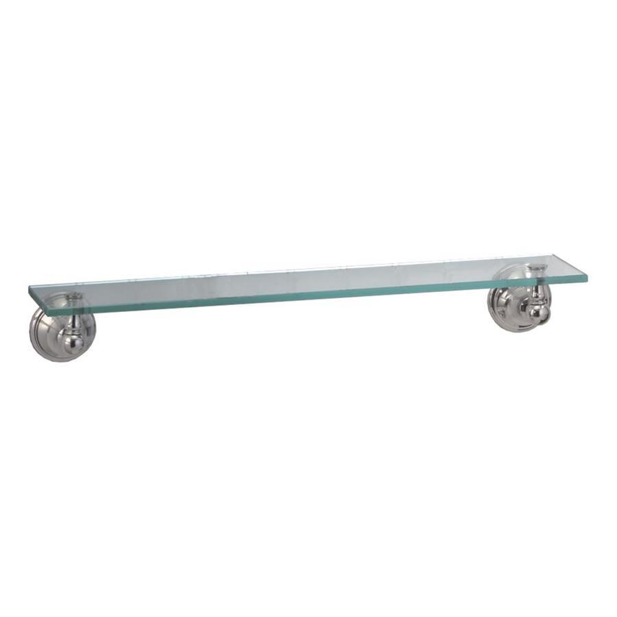 Gatco Laurel Avenue Polished Nickel Glass Bathroom Shelf