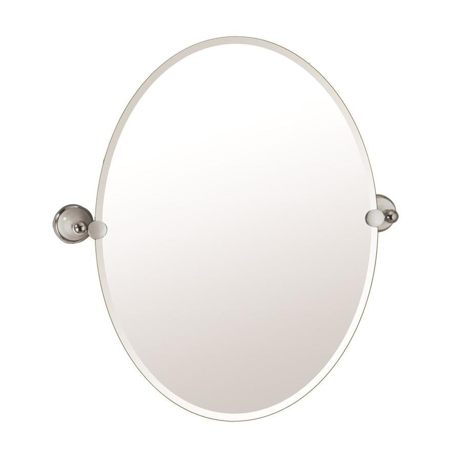 Gatco 26-1/2-in H x 19-1/2-in W Franciscan Oval Frameless Bath Mirror with Beveled Edges