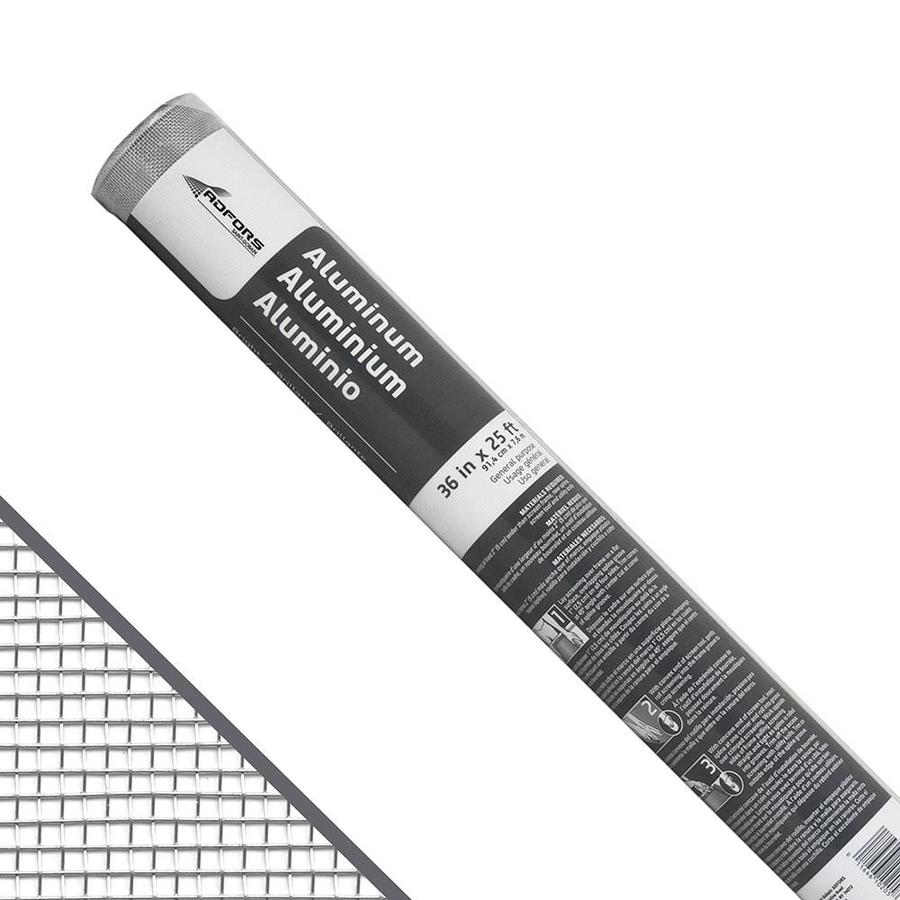 New York Wire 36-in x 25-ft Bright Aluminum Screen Wire