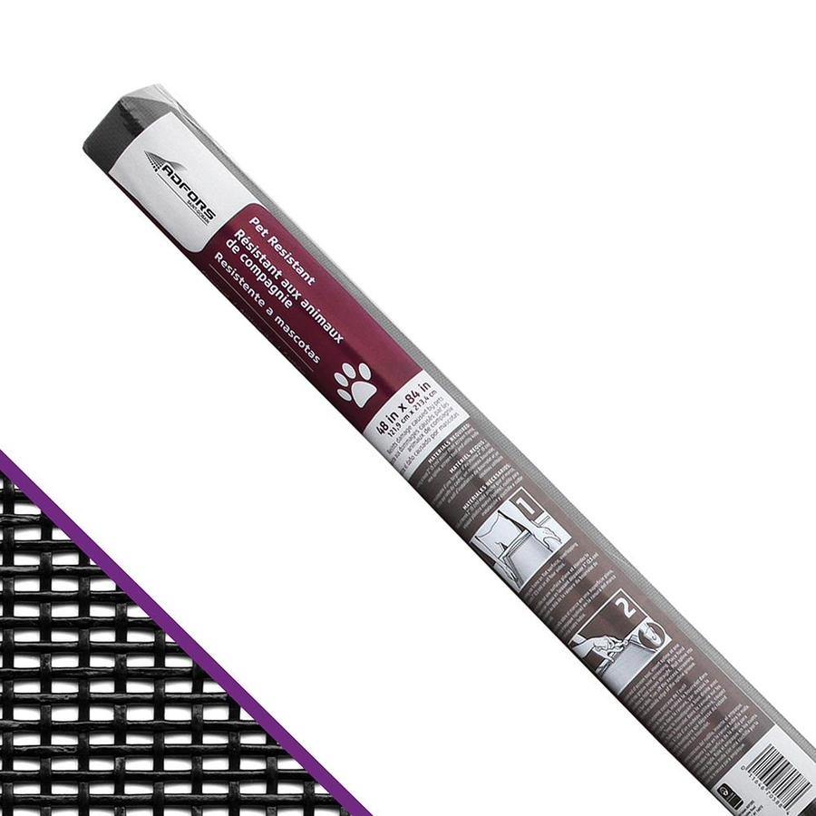 New York Wire 48-in x 7-ft Charcoal Vinyl-Coated Polyester Screen Wire