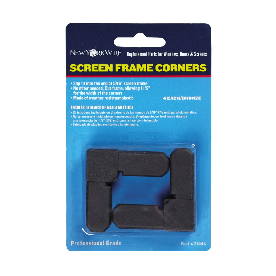 New York Wire 5/16-in Brown Screen Frame Corners