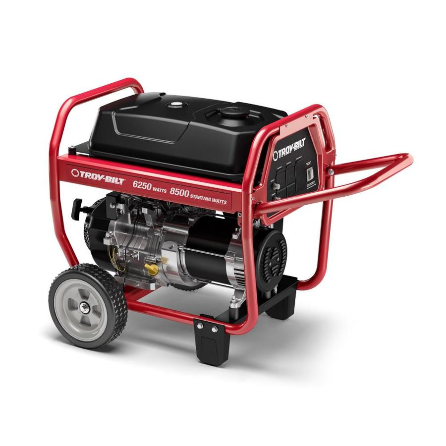 Troy Bilt 6250 Series 6,250-Running-Watt Portable Generator with Engine