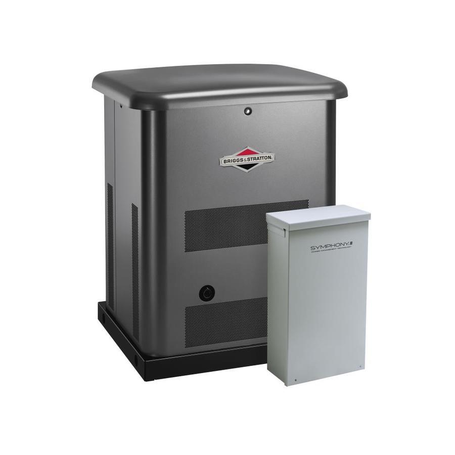 Briggs & Stratton BS12 12,000-Watt (LP) / 10,000-Watt (NG) Standby Generator with Automatic Transfer Switch