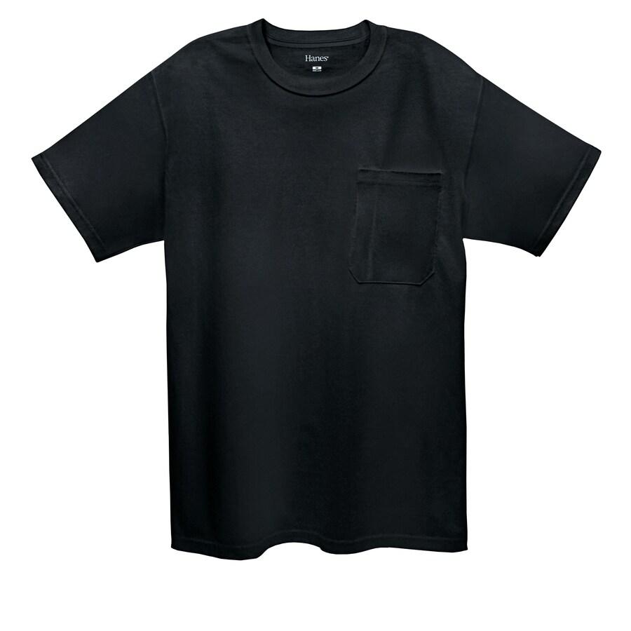 Hanes Large Black Tagless T-Shirt