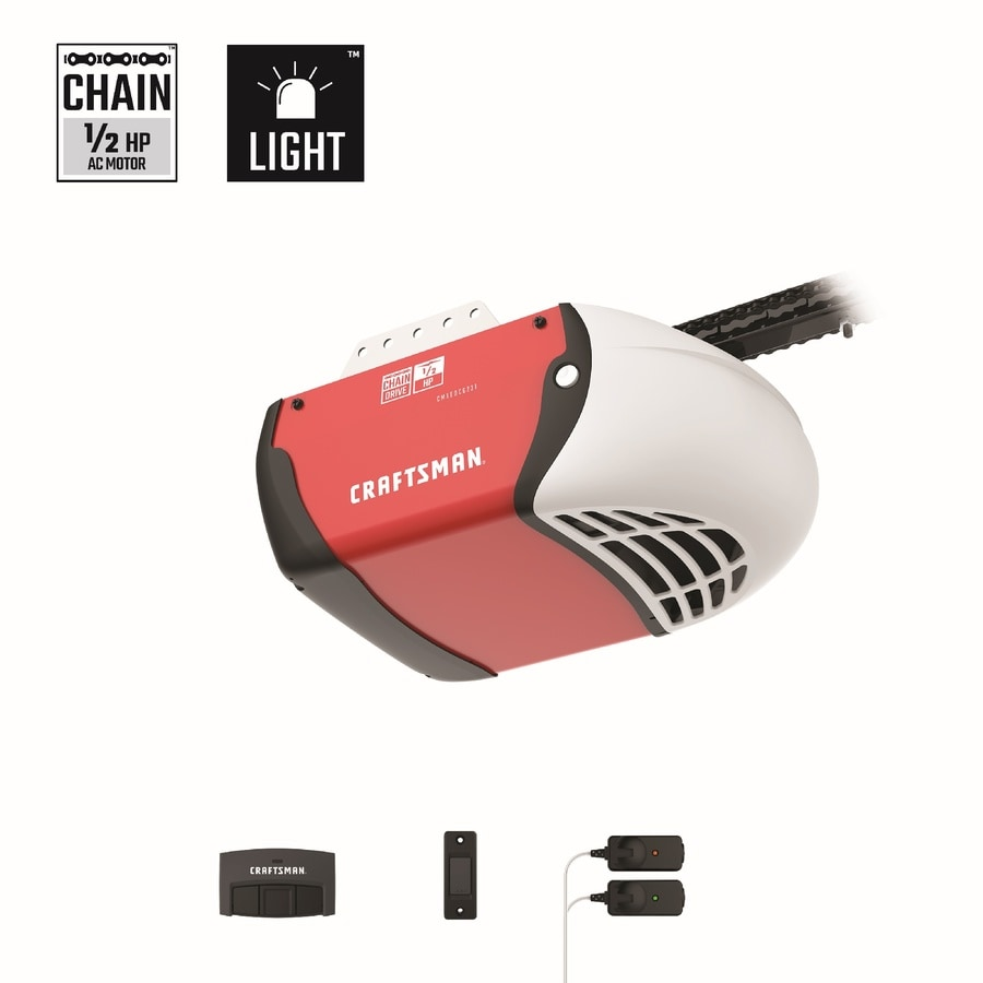 Craftsman 0 5 Hp Chain Drive Garage Door Opener With Myq At Lowes Com