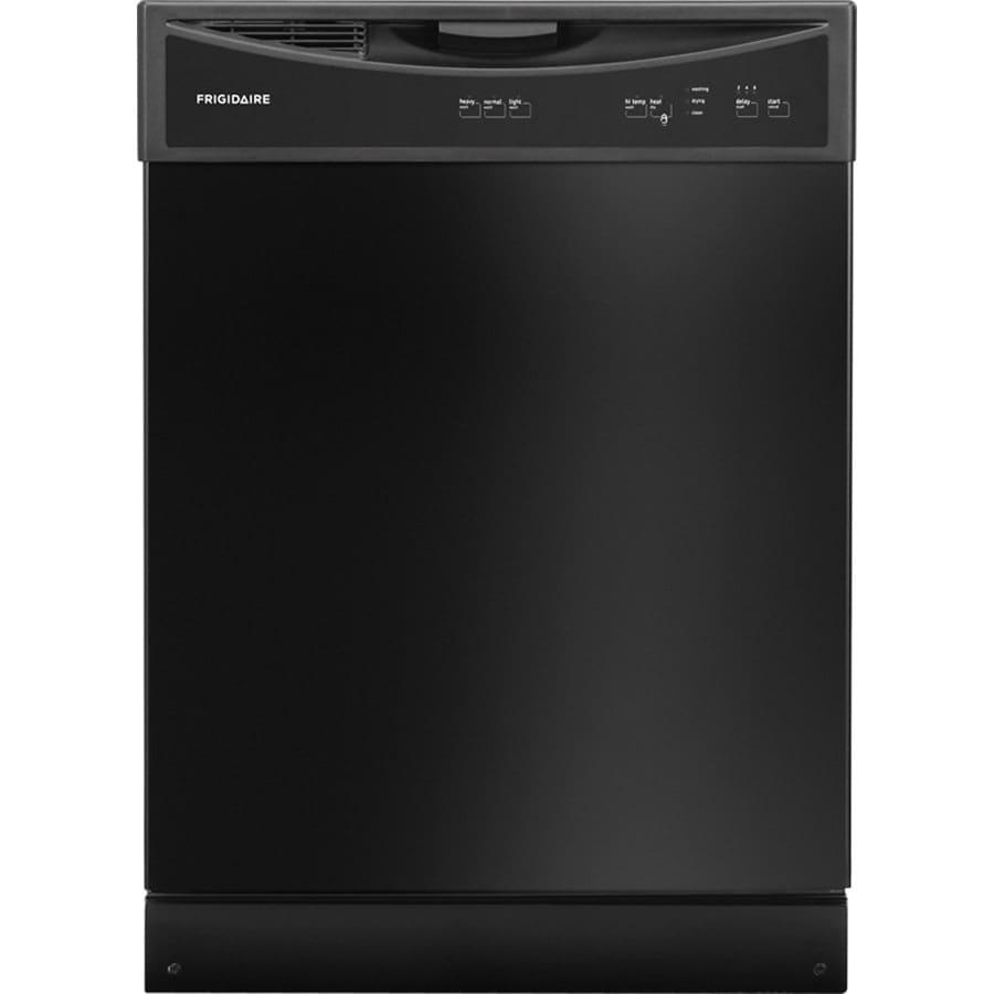 Frigidaire 2406 Series 60-Decibel Built-in Dishwasher (Black) (Common: 24-in; Actual: 24-in)