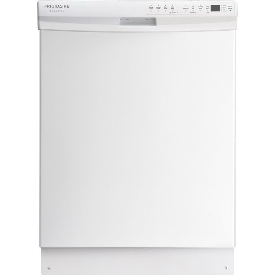 Frigidaire Gallery 55-Decibel Built-In Dishwasher with Hard Food Disposer (White) (Common: 24-in; Actual: 24-in) ENERGY STAR