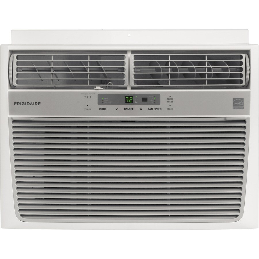 Shop frigidaire 12 000 btu 550 sq ft 115 volt window air for 12000 btu window ac with heat