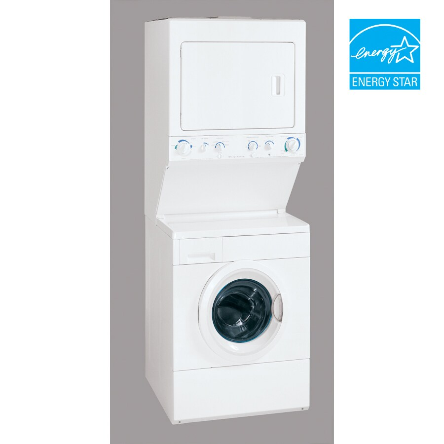 Frigidaire® 3.1 Cu. Ft. Washer / 5.7 Cu. Ft. Electric Dryer Stacked Laundry Unit (Color: White)  ENERGY STAR®