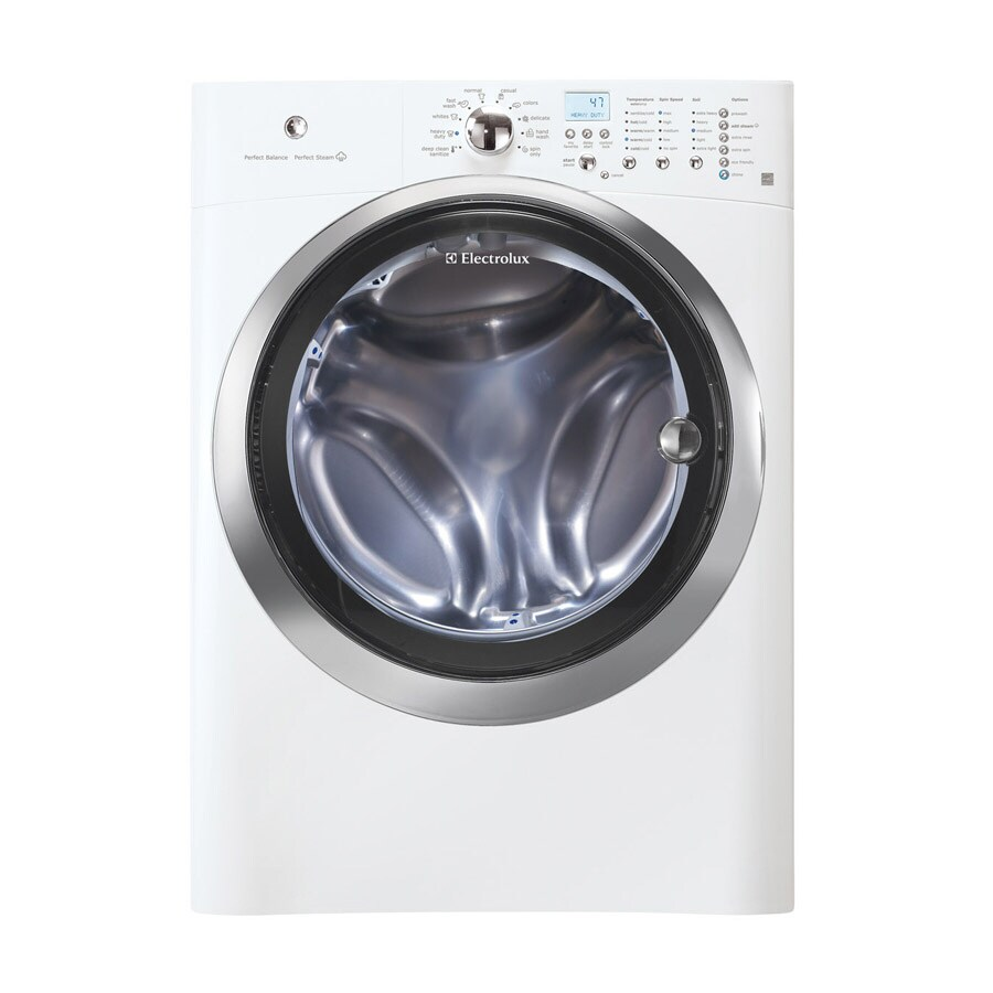 Electrolux 4.2-cu ft High-Efficiency Stackable Front-Load Washer with Steam Cycle (Island White)