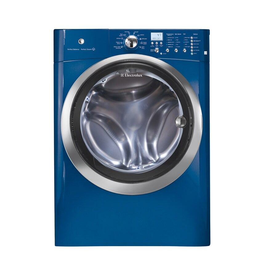 Electrolux 4.2-cu ft High-Efficiency Stackable Front-Load Washer with Steam Cycle (Mediterranean Blue)