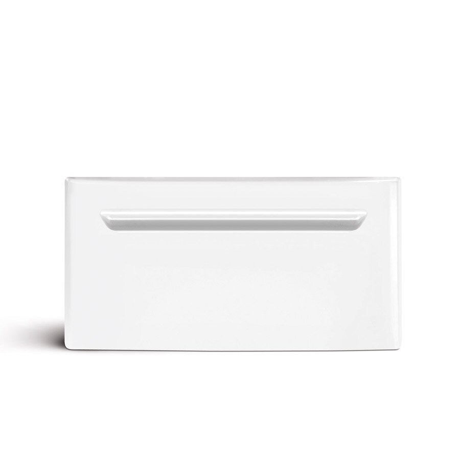 Frigidaire 15-in x 27-in Classic White Laundry Pedestal with Storage Drawer
