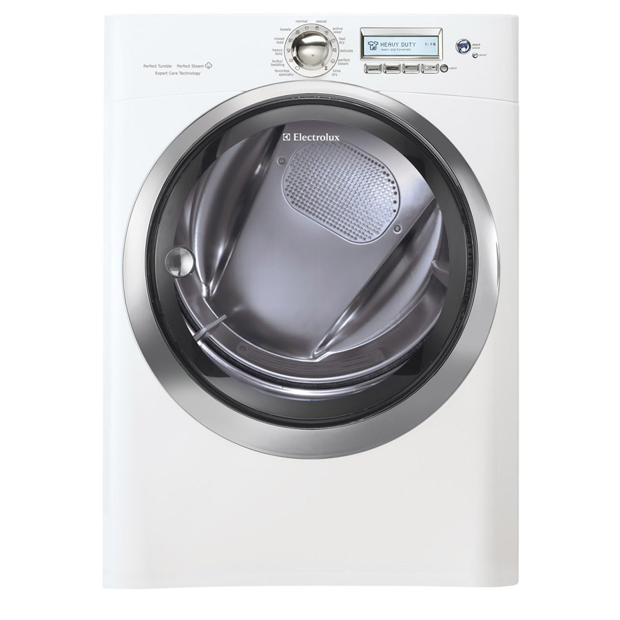 Electrolux 8-cu ft Stackable Electric Dryer (Island White)