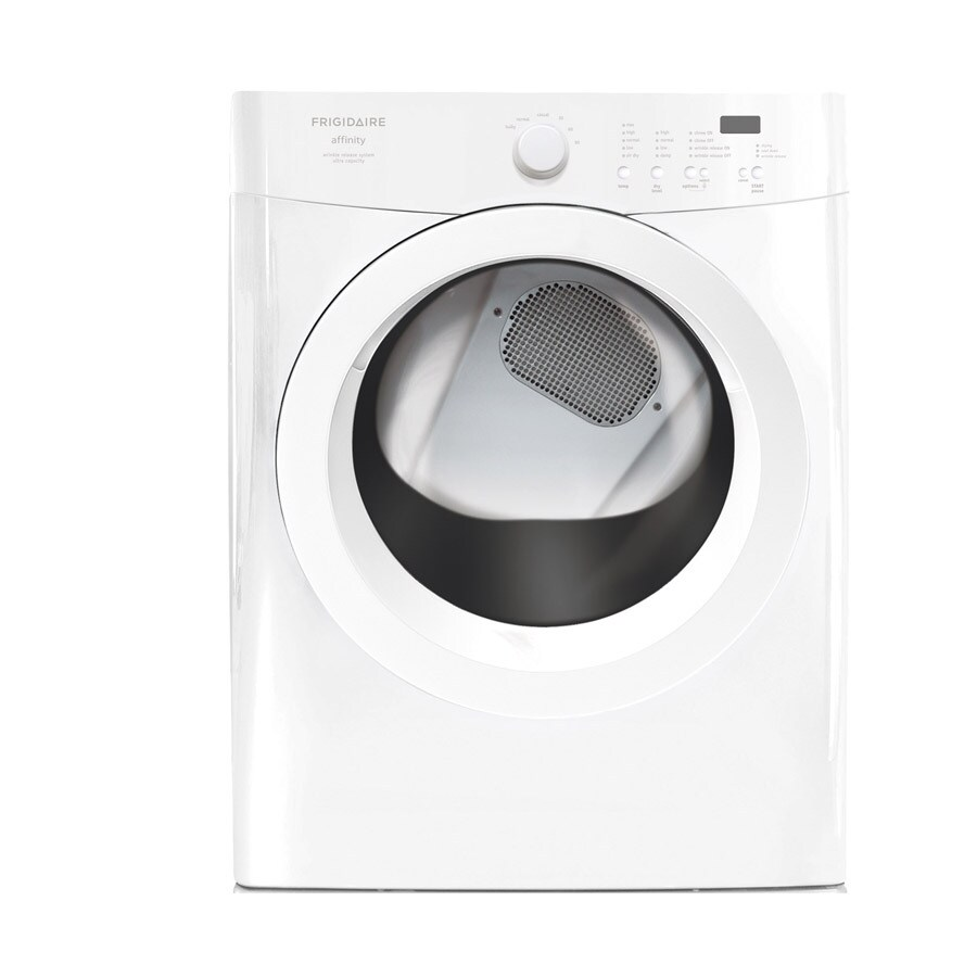 Frigidaire Affinity 7-cu ft Stackable Gas Dryer (Classic White)