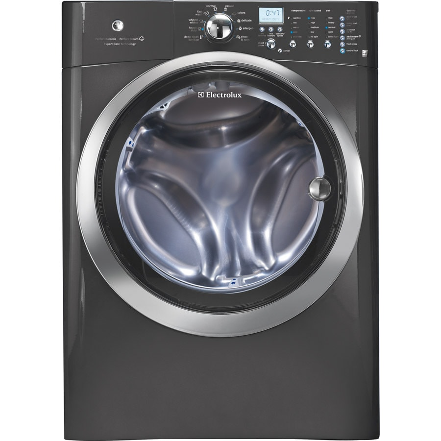 Electrolux 4.3-cu ft High-Efficiency Stackable Front-Load Washer with Steam Cycle (Titanium)