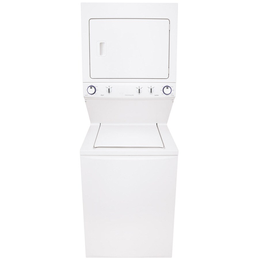 Frigidaire Electric Stacked Laundry Center with 3.8-cu ft Washer and 5.5-cu ft Dryer (White) ENERGY STAR