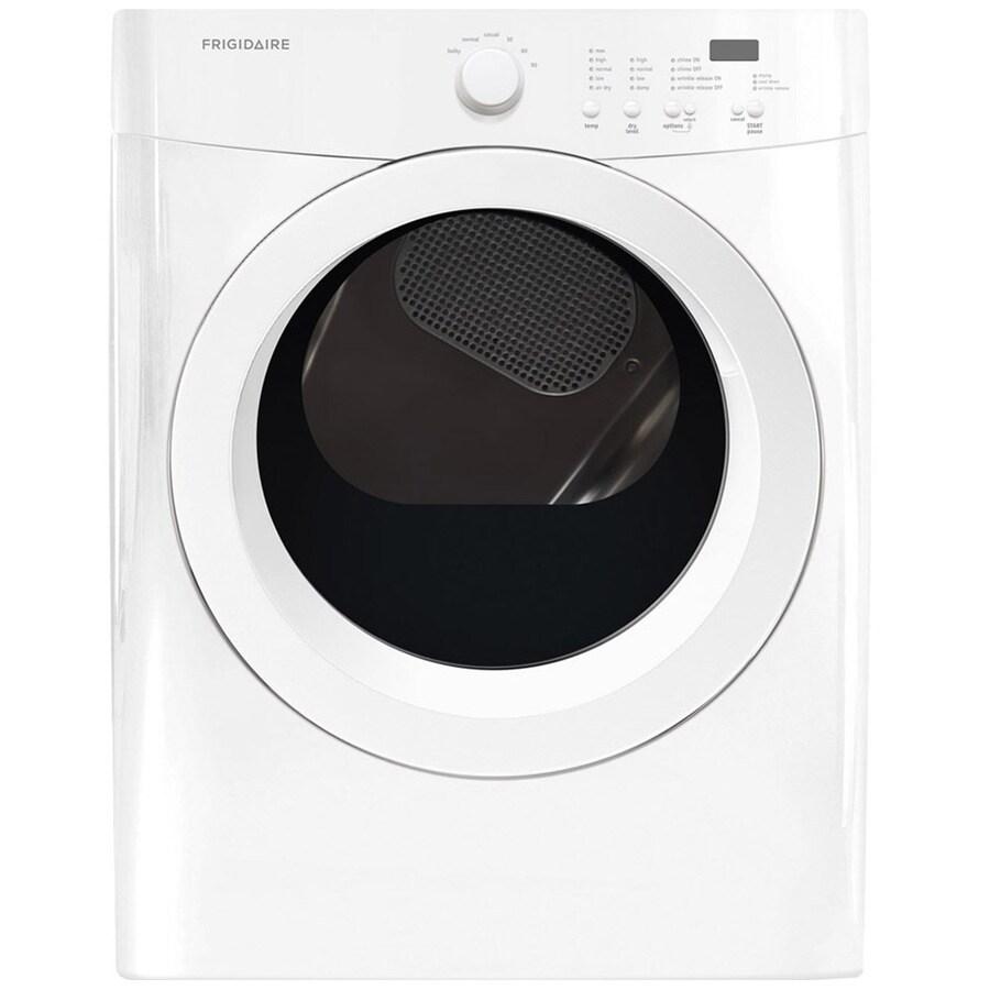 Frigidaire 7-cu ft Stackable Gas Dryer (White)