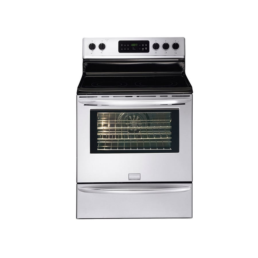 Shop frigidaire gallery 30 inch smooth surface freestanding electric range color stainless - Inch electric range reviews ...