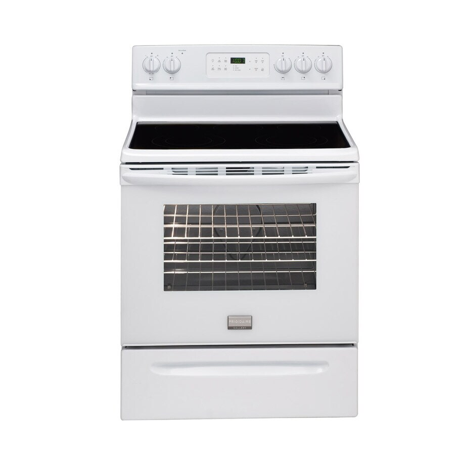 Frigidaire Gallery� Smooth Surface Freestanding 5-Element 5.4-cu ft Self-Cleaning Electric Range (White) (Actual: 30-in)