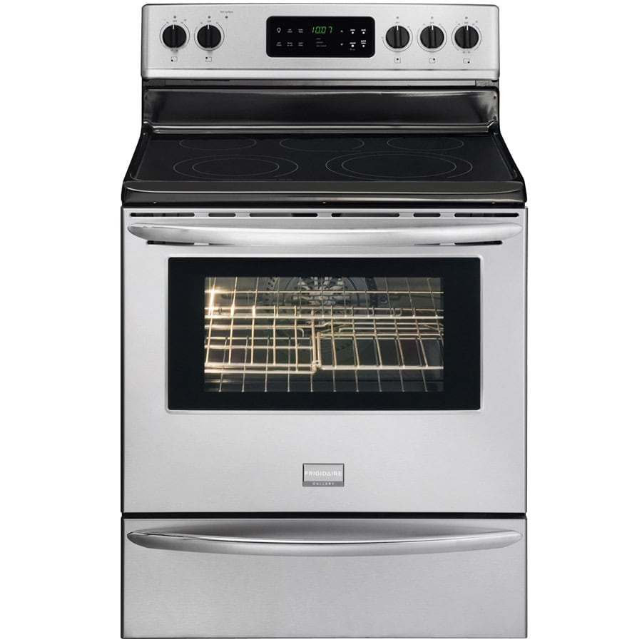 Frigidaire Gallery Smooth Surface Freestanding 5 5.7-cu ft Self-Cleaning Convection Electric Range (Stainless) (Common: 30-in; Actual: 29.88-in)