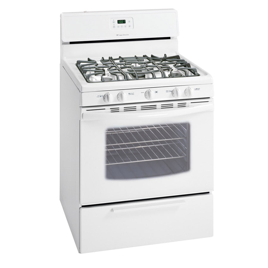 Frigidaire 5-Burner Freestanding 4.2-cu ft Gas Range (White) (Common: 30-in; Actual: 29.88-in)