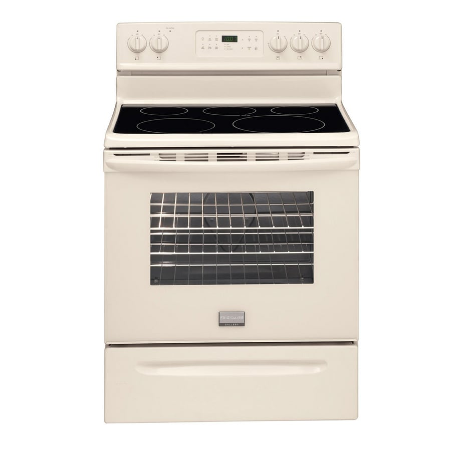 Frigidaire Gallery Smooth Surface Freestanding 5-Element 5.7-cu ft Self-Cleaning Convection Electric Range (Bisque) (Common: 30-in; Actual: 29.88-in)
