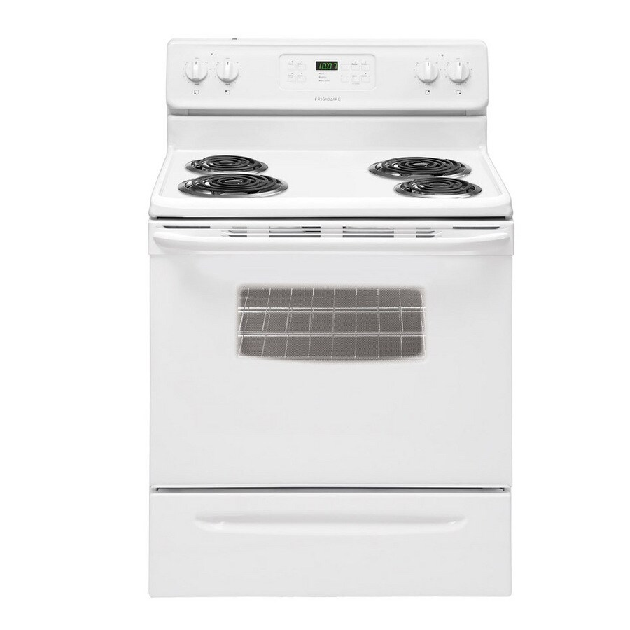 Frigidaire 30-in Freestanding 4-Element 5.3 cu ft Self-Cleaning Electric Range (White)
