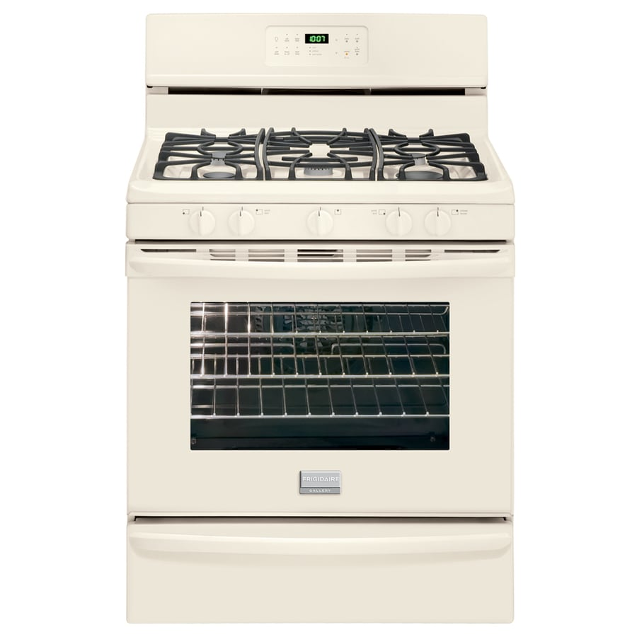 Frigidaire Gallery 5-Burner Freestanding 5-cu Self-Cleaning Convection Gas Range (Bisque/Biscuit) (Common: 30-in; Actual: 29.88-in)