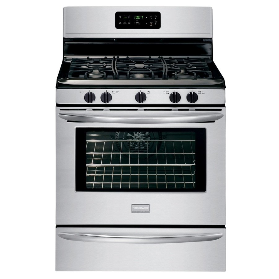 Frigidaire Gallery 5-Burner Freestanding 5-cu Self-Cleaning Convection Gas Range (Stainless Steel) (Common: 30-in; Actual: 29.88-in)