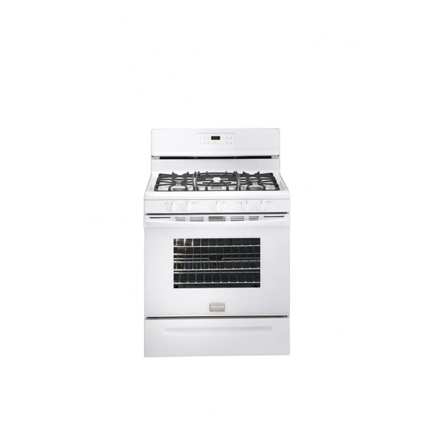 Frigidaire Gallery 5-Burner Freestanding 5-cu Self-Cleaning Gas Range (White) (Actual: 29.78-in)