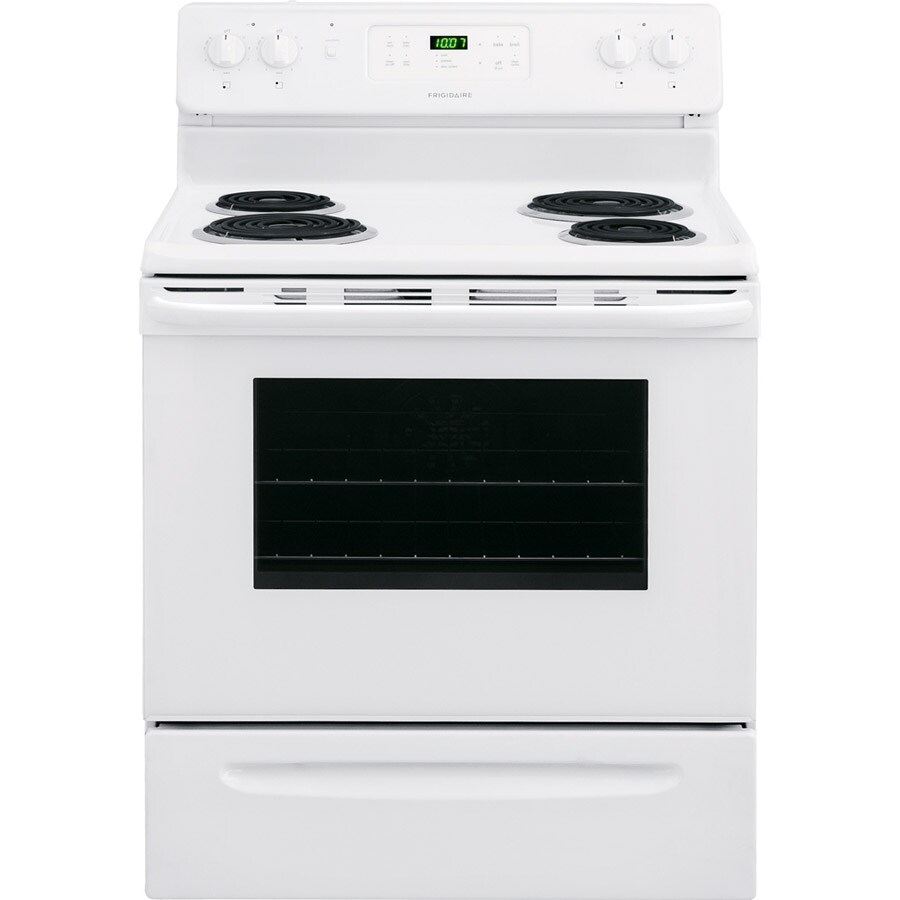 Frigidaire Freestanding 5.4-cu ft Self-Cleaning Convection Electric Range (White) (Common: 30-in; Actual: 29.88-in)