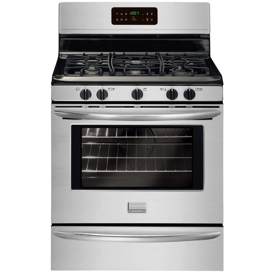Frigidaire Gallery 5-Burner Freestanding 5-cu Self-Cleaning Gas Range (Smudge-Proof Stainless Steel) (Common: 30-in; Actual: 29.87-in)