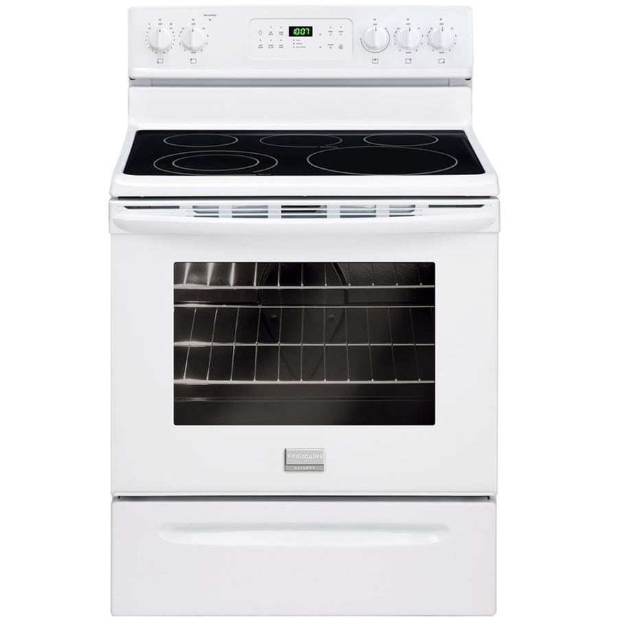 Frigidaire Gallery Smooth Surface Freestanding 5-Element 5.4-cu ft Self-Cleaning Electric Range (White) (Common: 30-in; Actual: 29.87-in)