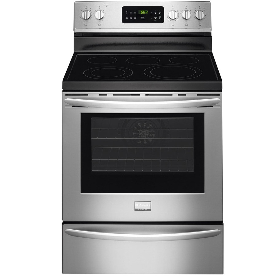 Frigidaire Gallery Smooth Surface Freestanding 5-Element 5.7-cu ft Self-Cleaning Convection Electric Range (Stainless Steel) (Common: 30-in; Actual: 29.87-in)